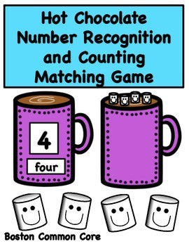 Hot Chocolate Number Recognition and Counting Game