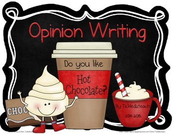 Hot Chocolate Opinion Writing for the Holidays or Winter