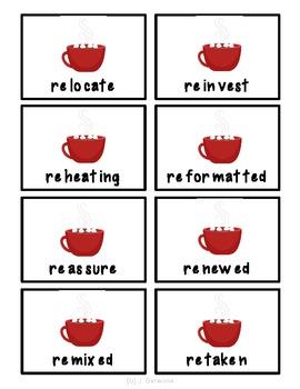 Winter Multisyllabic Words Decoding/ Fluency Game- with Prefixes