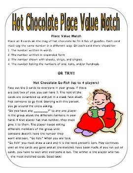 Hot Chocolate Place Value