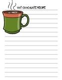 Hot Chocolate Recipe ~Creative Writing
