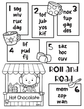 Hot Chocolate Roll and Read Nonsense Words