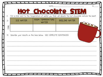 Hot Chocolate STEM Activity