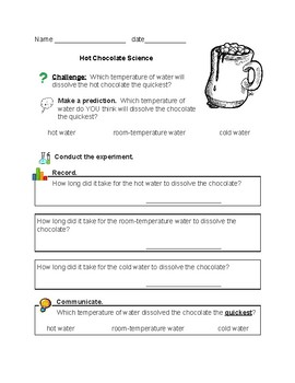 Hot Chocolate Science Experiment