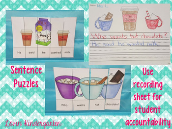 Hot Chocolate Sentences  {Pocket Chart Stations}