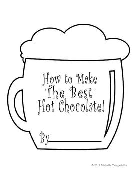 Hot Chocolate Shape Book