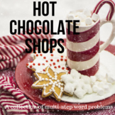 Hot Chocolate Shop Multi-step Story Problems - Operations with Decimals