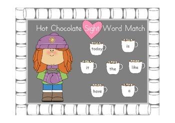 Hot Chocolate Sight Word Match