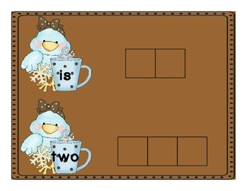 Hot Chocolate Sight Word Spelling Mats