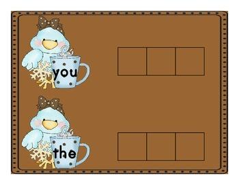 Hot Chocolate Sight Word Spelling Mats