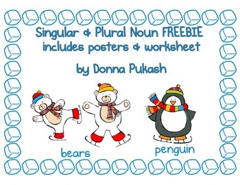 Hot Chocolate Singular & Plural Nouns FREEBIE