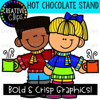 Hot Chocolate Stand: Winter Clipart {Creative Clips Clipart}