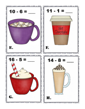Hot Chocolate Subtraction Write the Room