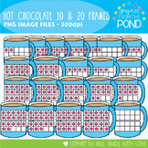 Hot Chocolate Ten and Twenty Frame Clipart