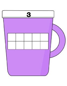 Hot Chocolate Tens Frames (1-10)