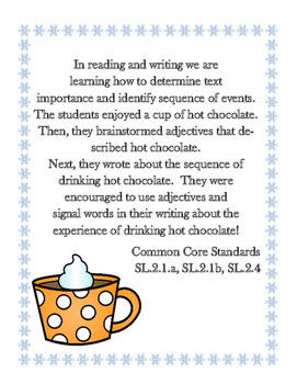 Hot Chocolate Themed Writing Craftivity and Math and Reading Center