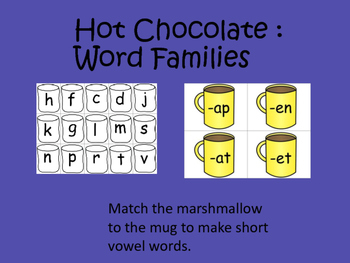 Hot Chocolate: Word Families