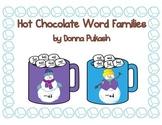 Hot Chocolate Word Families-Snowmen, Winter Animals, Gingerbread