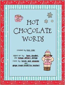 Hot Chocolate Words Activity