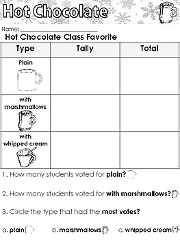 Hot Chocolate Worksheets and Writing Prompts