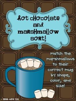 Hot Chocolate and Marshmallow Sort {Freebie!}