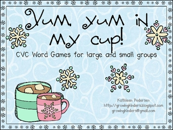 Hot Chocolate and Missing Marshmallow CVC Word Games