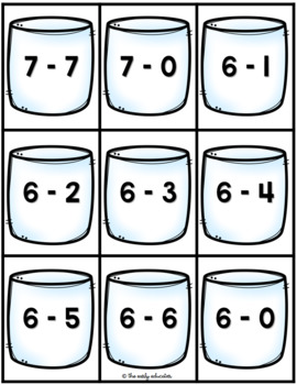 Hot Cocoa Addition & Subtraction Sort