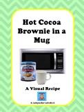 Hot Cocoa Brownies in a Mug Visual Recipe