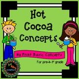 Hot Cocoa Concepts No Print for Receptive Basic concept skills (Ipad,smartboard)
