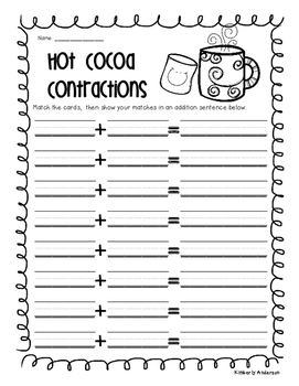 Hot Cocoa Contractions Match