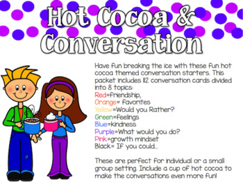 Hot Cocoa & Conversation: Icebreaker Cards for Groups