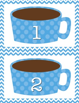 Hot Cocoa Counting Mat