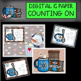 DIGITAL and PAPER Hot Chocolate Counting On Task Cards/Write the Room