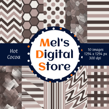 Hot Cocoa: Primary Party Digital Papers {Mel's Digital Store}