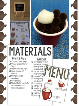 Hot Cocoa Dramatic Play Resources