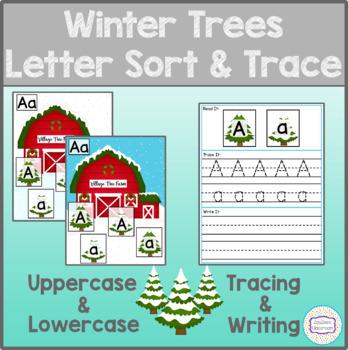 Winter Trees Letter Sort & Trace