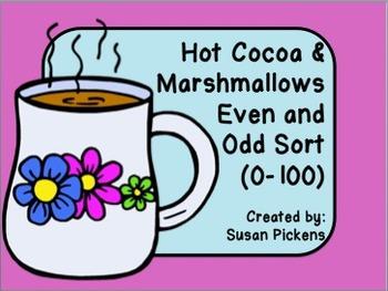 Hot Cocoa & Marshmallows Even and Odd Sort (0-100)
