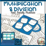 Multiplication & Division Fact Families Practice (Hot Cocoa Themed)