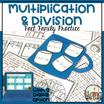 Multiplication and Division Fact Families Practice (Hot Co