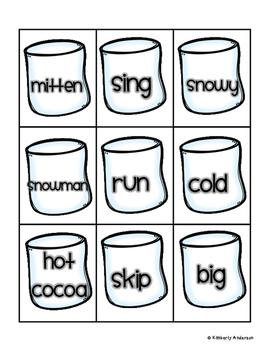 Hot Cocoa Nouns / Verbs / Adjectives Sort