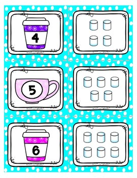 Hot Cocoa Number Matching *FREEBIE*