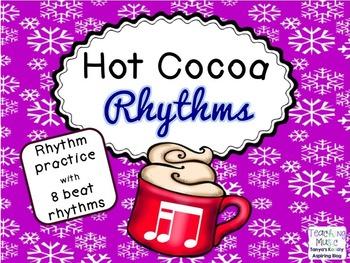 Hot Cocoa Rhythms 2 sixteenth notes  1 eighth TikaTi/Tiri