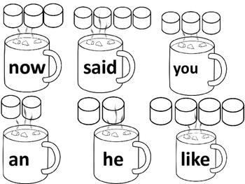 Hot Cocoa Sight Words