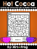 Hot Cocoa Winter Color By Number Addition and Subtraction Pictures