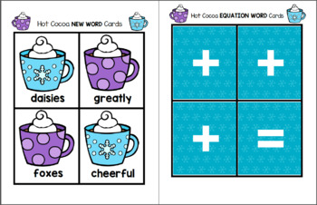 Hot Cocoa Word Equations - Spelling Pack
