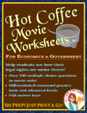 Hot Coffee Movie Worksheets and Puzzle Pages