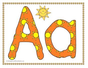 Hot Crazy Summer Heat Alphabet Flash cards