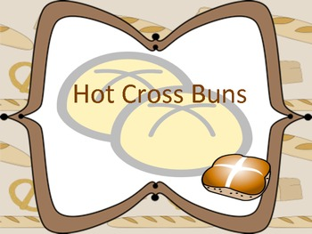 """Hot Cross Buns: A Song to Learn """"re"""""""