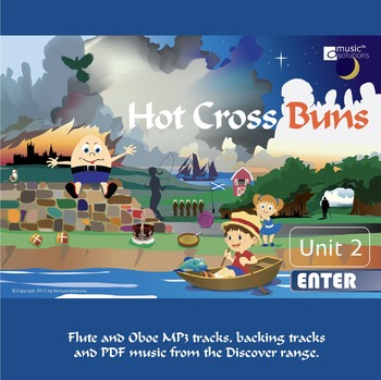 Hot Cross Buns Flute And Oboe mp3s and pdf unit 2.