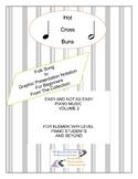 Hot Cross Buns: Folk Song In Graphic Presentation Notation